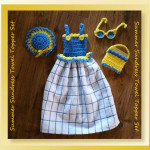 Summer Sundress Towel Topper Set