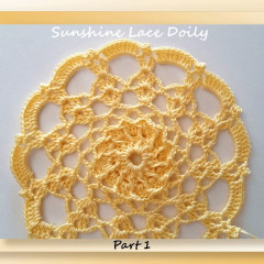 Sunshine Lace Doily – Mystery CAL