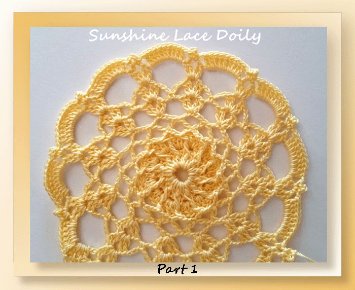Sunshine Lace Doily - Mystery CAL