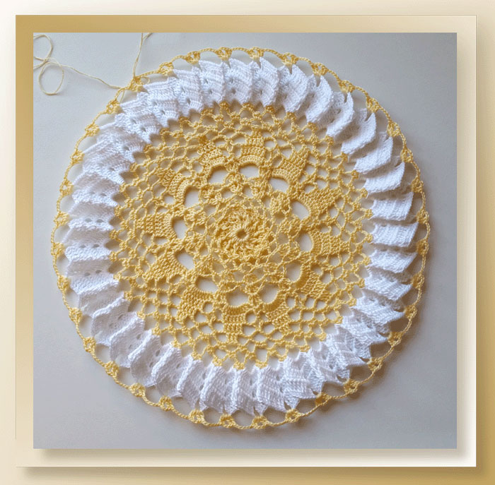 Sunshine Lace Doily - Part 3