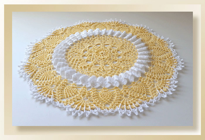 Sunshine Lace Doily - Part 4
