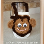 Lola the Monkey Baby Bib