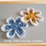 Pretty Petals Flower Coasters