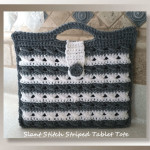 Slant Stitch Striped Tablet Tote CAL