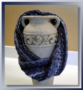 The Casual Twisted Slant Stitched Cowl