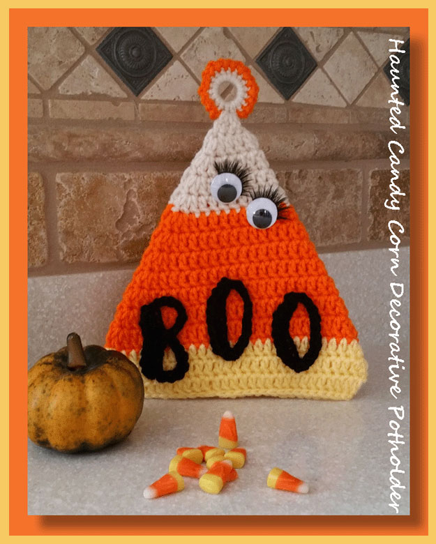 Haunted Candy Corn Decorative Potholder