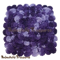 Textured Shell Coaster – Featured Blogger, Rebeckah's Treasures
