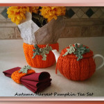 Autumn Harvest Pumpkin Tea Set