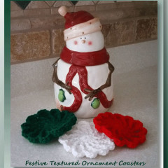 Festive Textured Ornament Coasters