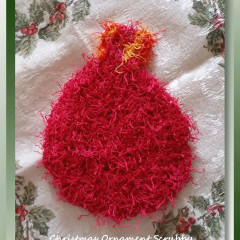 Christmas Ornament Scrubby
