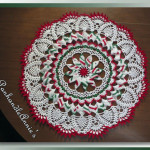 Marla's Peppermint Pinwheel Sunshine Lace Doily