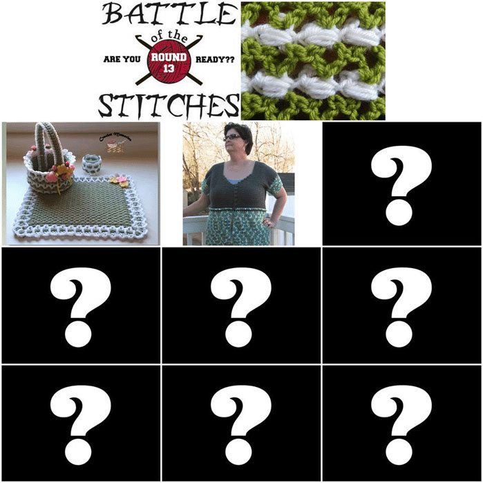Battle of the Stitches (Blog Hop) Round 13