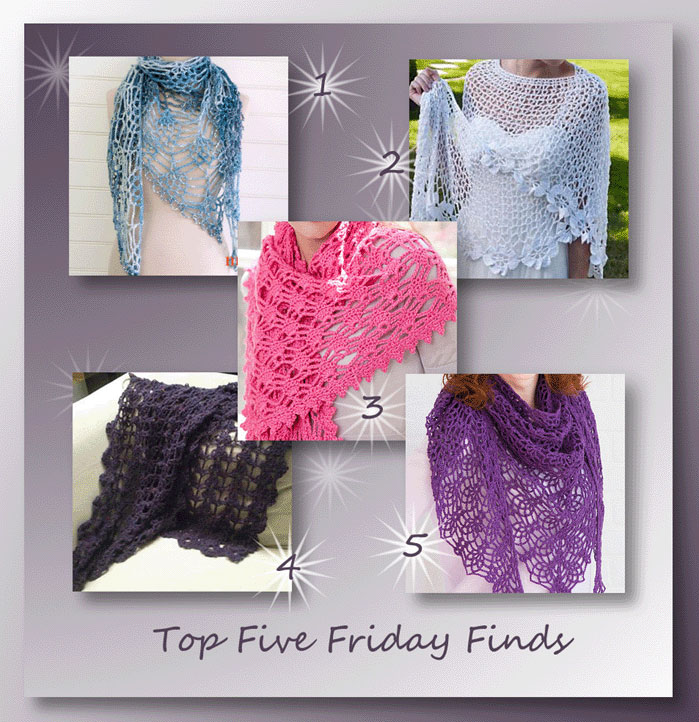Top Five Friday Finds in Ladies Lacy Shawl Patterns