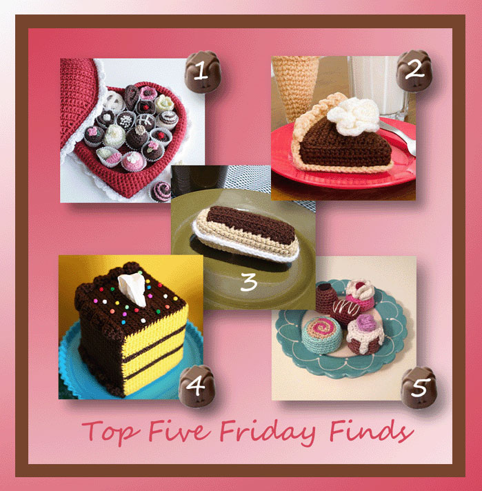 Top Five Friday Finds for Crochet Food