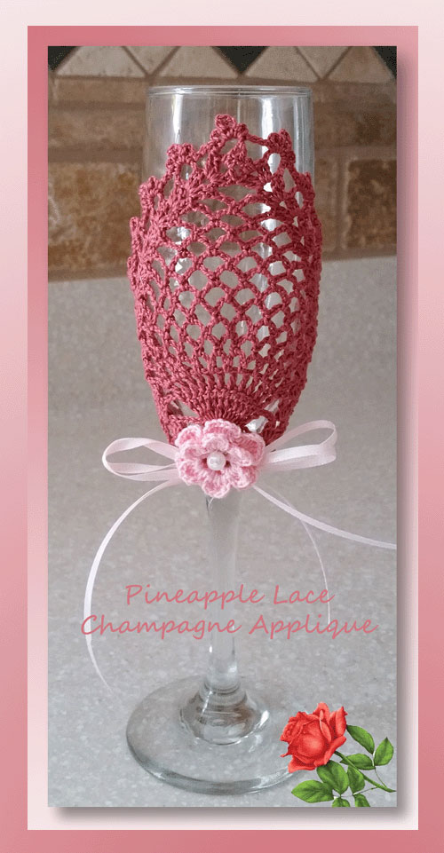 Pineapple Lace Champagne Applique