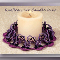 Ruffled Lace Candle Ring