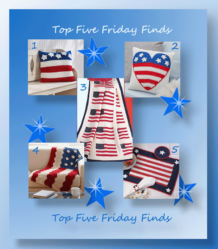 Top Five Friday Finds in Free Crochet Patriotic Patterns