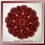Freedom Rings Doily