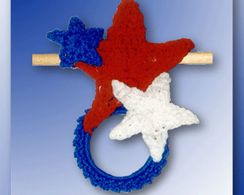 4th of July Star Towel Ring