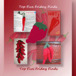 Top Five Friday Finds in crochet chili peppers