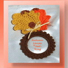 Autumn Leaves Towel Ring