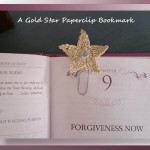 A Gold Star Paperclip Bookmark