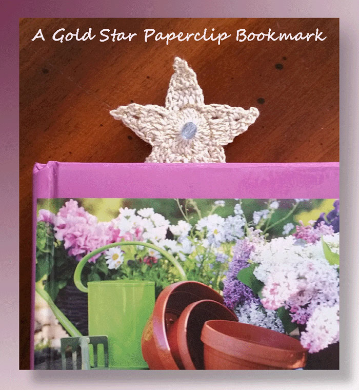 A Simple Gold Star Paperclip Bookmark