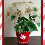 Peppermint Candy Clay Pot Cover