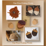 Top Five Friday Finds in crochet acorn patterns