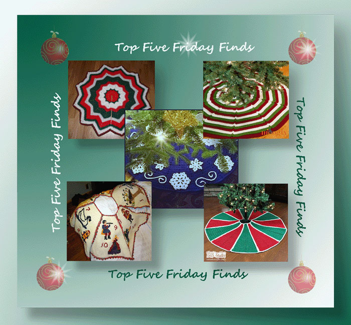 Top Five Friday Finds in Free Crochet Tree Skirt Patterns
