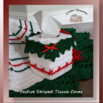 Cover - Free crochet Christmas tissue cover pattern