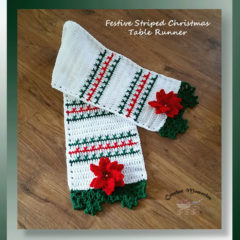 Festive Striped Christmas Table Runner (Week 2)