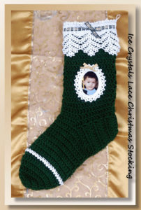 Ice Crystals Lace Christmas Stocking