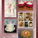 Top Five Friday Finds in free crochet Valentine candle holder patterns