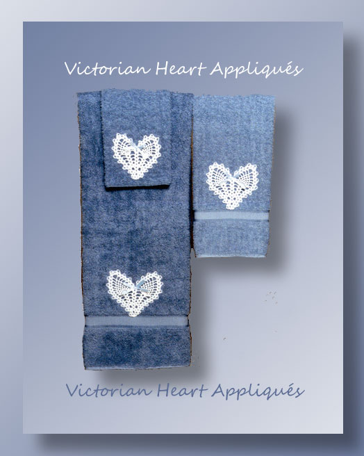 Victorian Heart Appliques - Free crochet pattern for thread Valentine pineapple hearts
