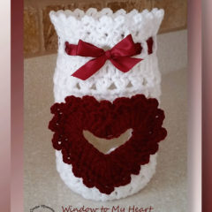 Window to My Heart Mason Jar Cover