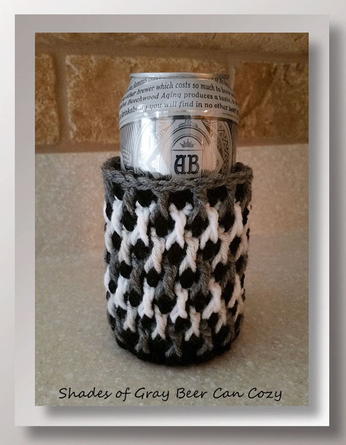 Shades Of Gray Beer Can Cozy Crochet Memories Blog