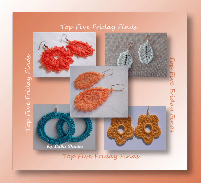 Top Five Friday Finds Free Crochet Earring Patterns