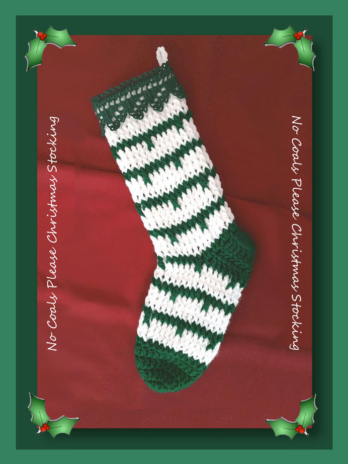 No Coals Please Christmas Stocking Christmas In July Crochet Along