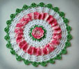 Vintage Rose Doily
