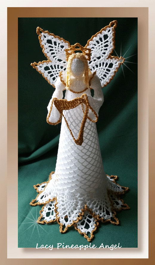 Lacy Pineapple Angel Crochet Christmas Patterns