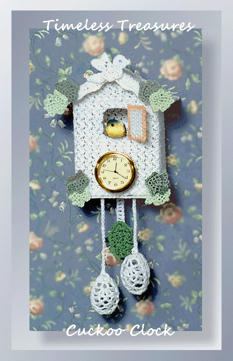 Timeless treasures cuckoo clock crochet home decor patterns Crochet home decor pinterest