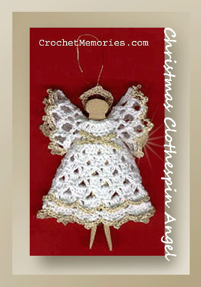 Christmas Clothespin Angel Free Angel Pattern
