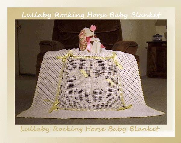 Lullaby Rocking Horse Baby Blanket 599 Crochet Memories